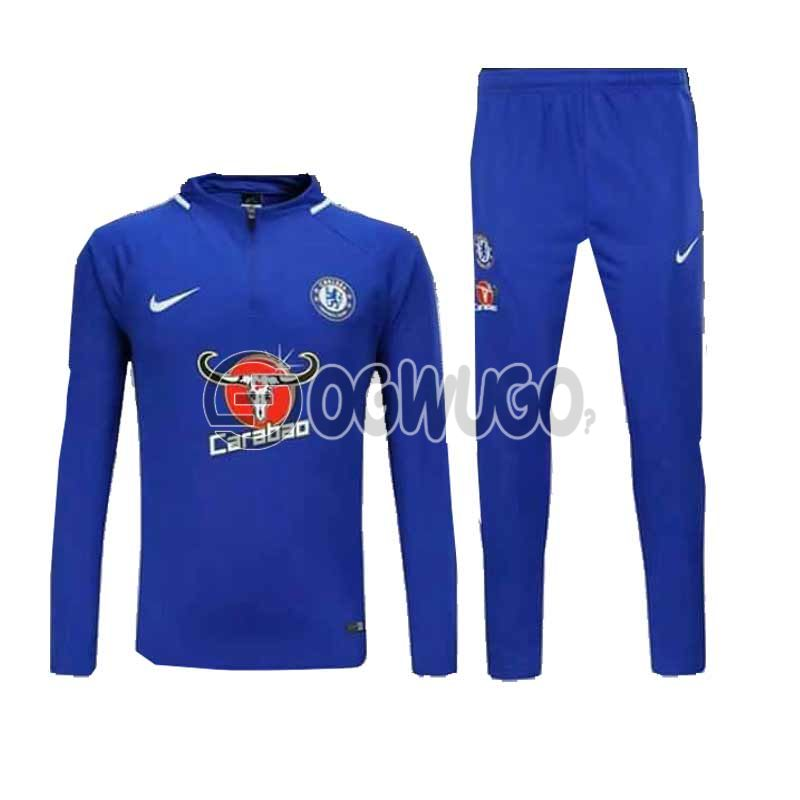 The Official Chelsea Football Club Original Track Suit for the Upcoming 2018/19 Season.: unable to load image