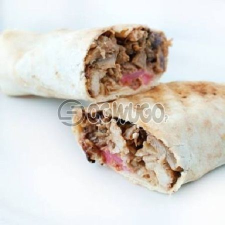 Savory Hot crunchy (Chicken) Shawarma the perfect taste buds appetizer which contains mixed chicken and Cheese: unable to load image