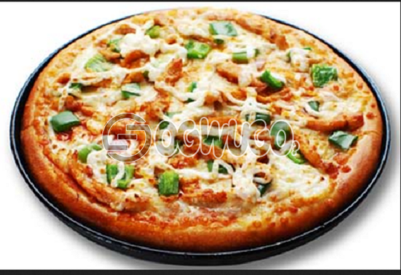 Chicken Pizza (LARGE) Made with Chicken, Onion, Tomato, Mushroom, Green pepper, Tomato Sauce and Cheese: unable to load image