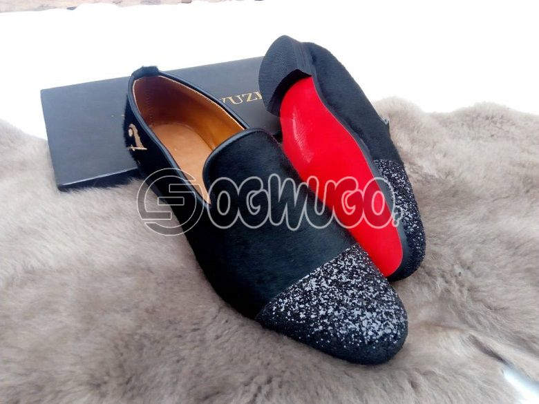Izzowuzi special men's formal wear; red bottom & made with pure suede material.: unable to load image