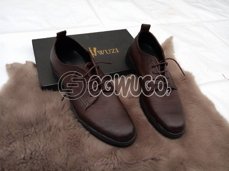 Izzowuzi men's casual wear; BROWN in color & made with very pure leather.: unable to load image