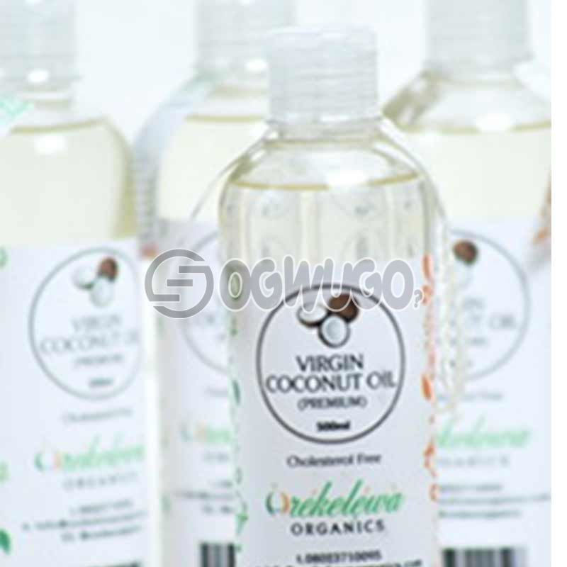 1 Bottle of  1 Liter of Orekelewa Virgin Coconut Oil. Pure Premium Organic Coconut Oil Made in Nigeria