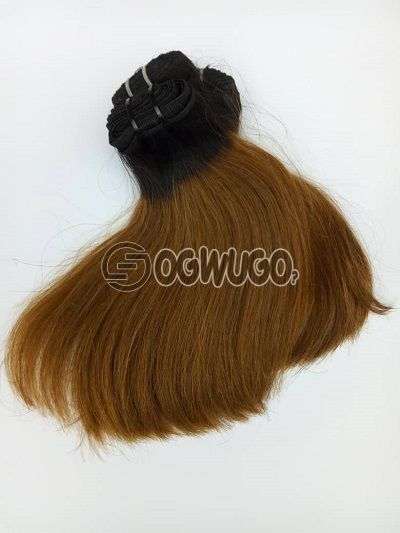 8 inches double drawn  bone straight Indian Virgin hair 