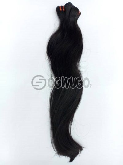 24 inches double drawn silky straight virgin hair 