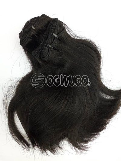 10 inches double drawn bone straight virgin Indian hair no, shedding, no tangling, 250g , 100% unprocessed.