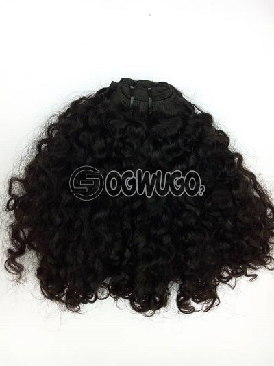12inches water curl Virgin Indian hair 