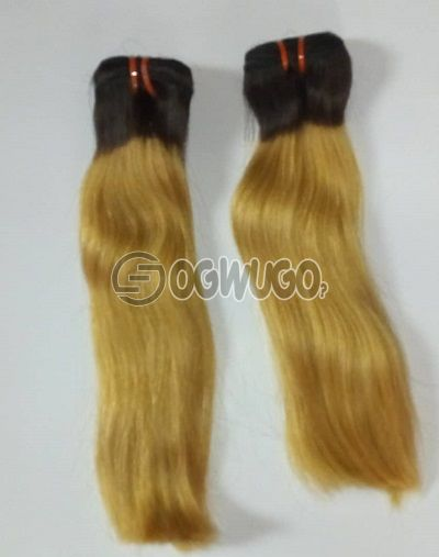 14 inches bone straight super double drawn virgin Indian  hair 