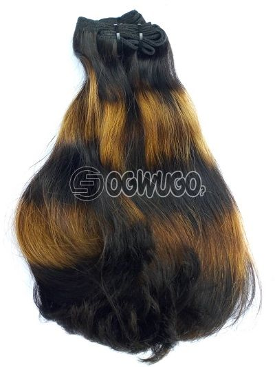 14 inches bone straight super double drawn Indian Virgin hair 