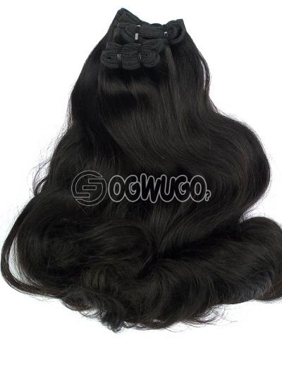 16inches double drawn straight with bounce at the tip