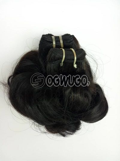 12inches  Glory  curly, virgin Indian hair colour black 