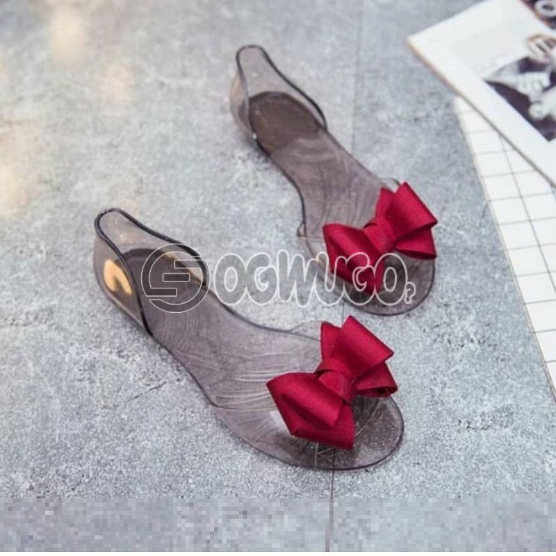 Fancy transparent rubber sandals with great fitting ,great casual friendly fashion for women: unable to load image