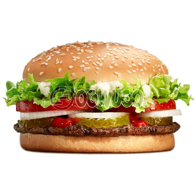 Crunchies Chicken Burger, made with fresh tasty beef and other ingredients.: unable to load image