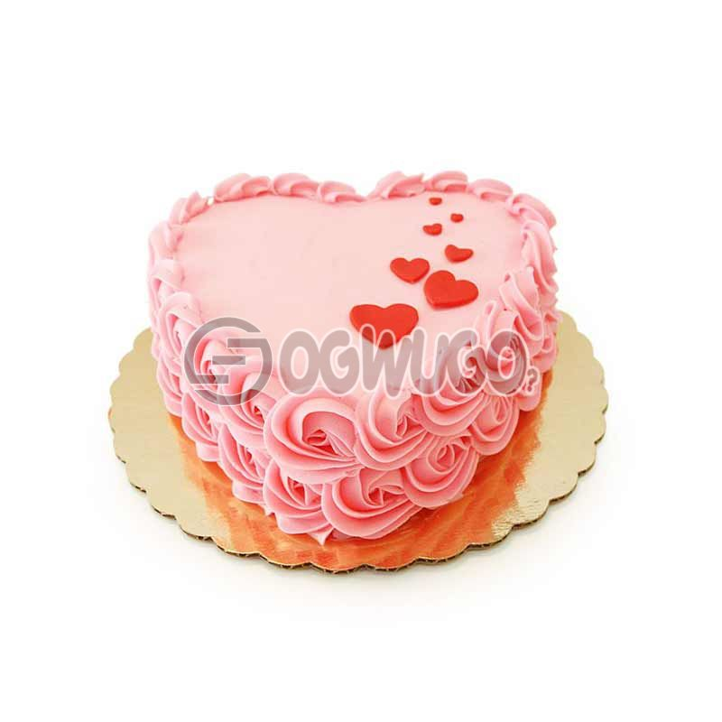 CELEBRATION CAKE - Round or Heart shaped (small size).