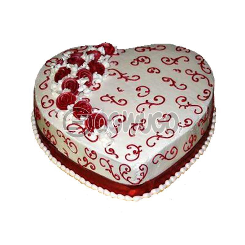 CELEBRATION CAKE - Round or Heart shaped (medium size).: unable to load image