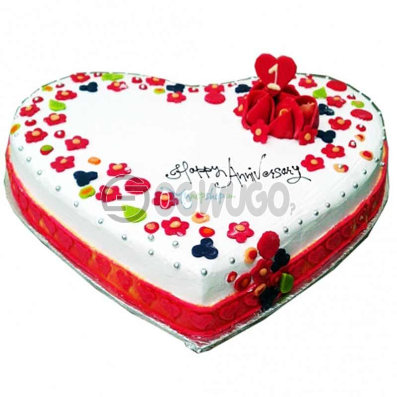 CELEBRATION CAKE - Round or Heart shaped (big size).: unable to load image