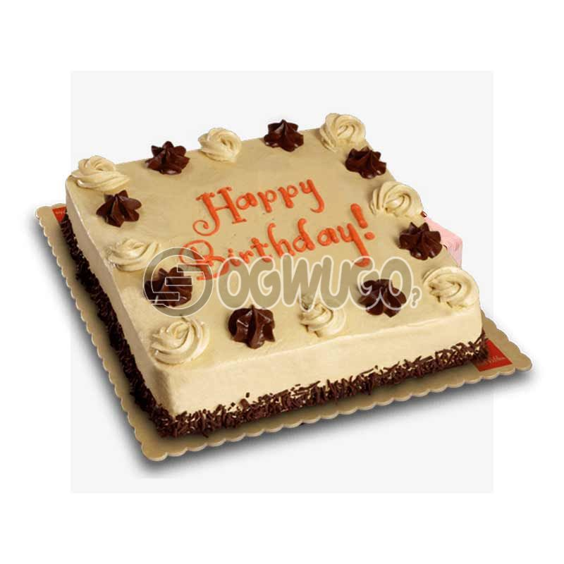 CELEBRATION CAKE - Square shaped (medium size).