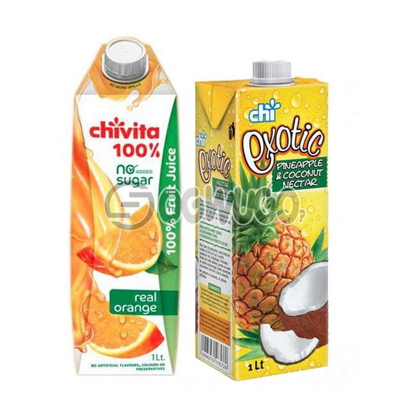 Big size Chivita, 5Alive Pulpy or Chi Exotic.