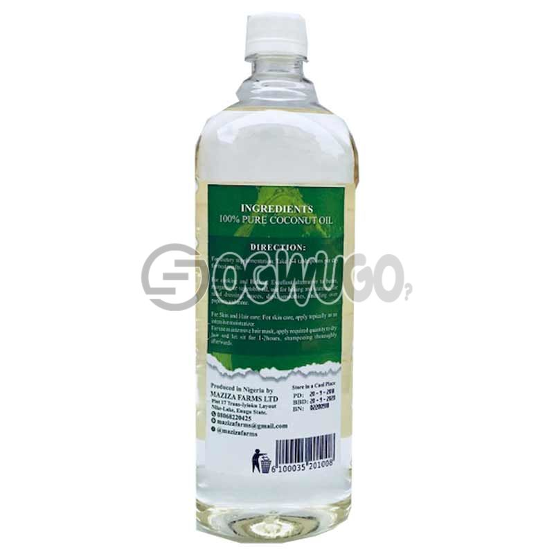 MAZIZA FARMS ORGANIC VIRGIN COCONUT OIL 1LITRE: unable to load image