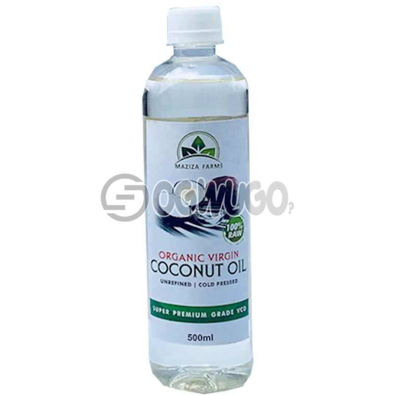 MAZIZA FARMS ORGANIC VIRGIN COCONUT OIL 500ML: unable to load image