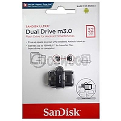 Sandisk 32GB Dual Flash Drive.