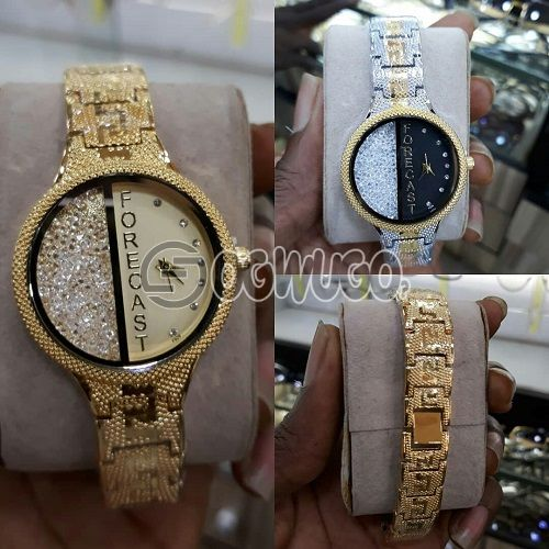 Affordable forcast female watches comes with different design.Order and get it in 2days