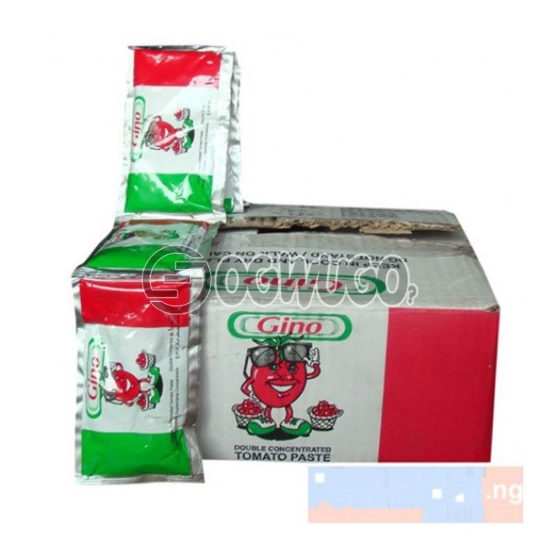 A Carton of Gino Tin Tomato Paste: unable to load image