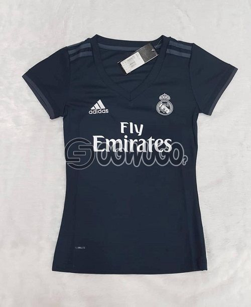 Real Madrid Female White or black Jersey, order now and have it delivered at your doorstep. Please choose your preferred color: unable to load image
