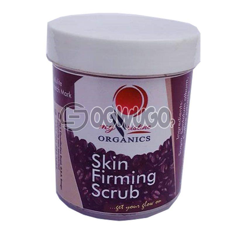 Organic skin firming scrub: unable to load image