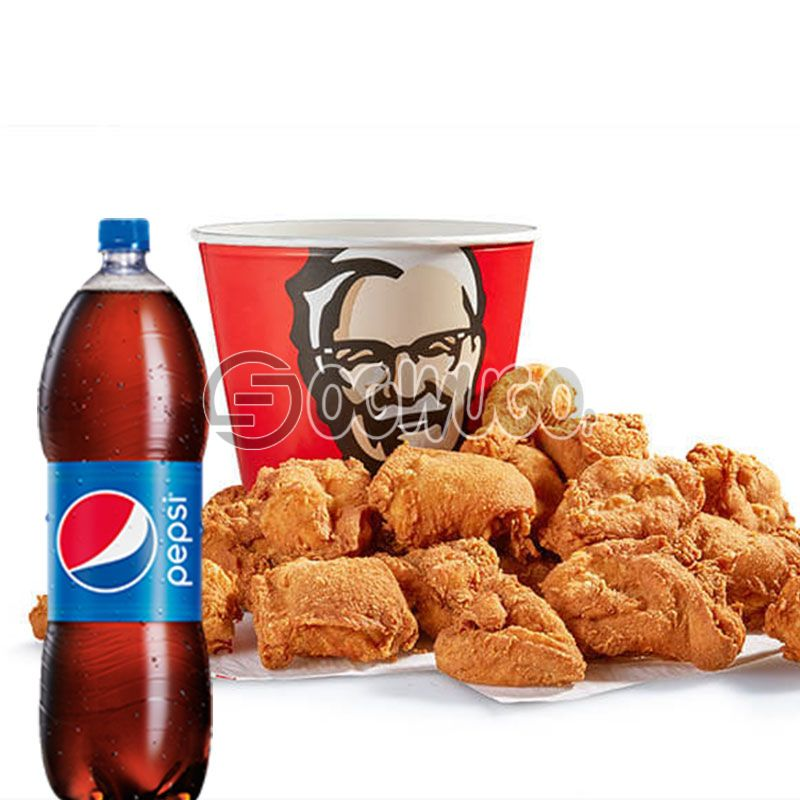 21piece bucket Chicken with 1.5litre Pepsi