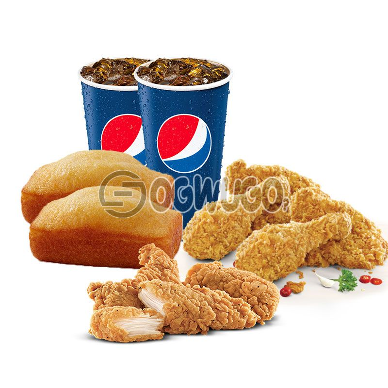 Fill Up Feast (4 Chicken pieces. 4 Chicken Strips, 2 mini Loaves and 2x 35cl Pepsi): unable to load image
