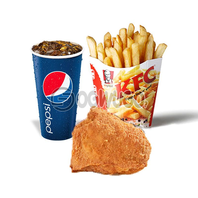 Streetwise one: Spicy Rice or Regular Chips, Chicken and 35cl Pepsi
