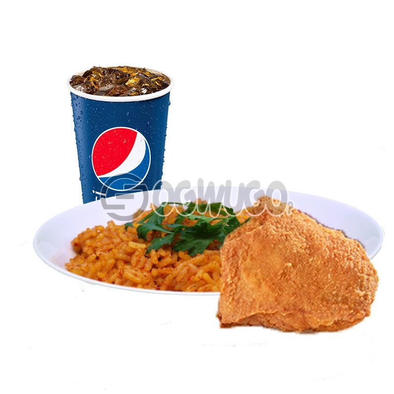 Streetwise one: Spicy Rice or Regular Chips, Chicken and 35cl Pepsi: unable to load image