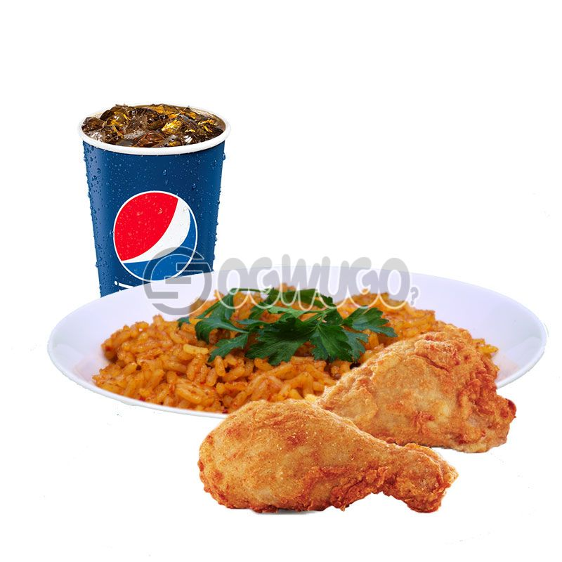 Streetwise Two: Spicy Rice or Regular Chips, 2piece Chicken and 35cl Pepsi: unable to load image