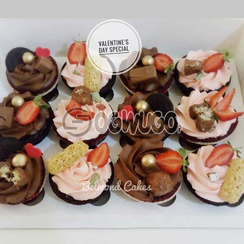 12cupcakes, 2 small parfait cups, Waffles and chicken wings.: unable to load image
