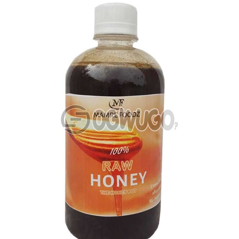 MAMRE FOODZ( HONEY) 100% Raw Honey.Our honey is not pasteurized but only strained to remove any bits of honey comb wax and other extraneous matters, so it still retains original pollen and other nutritive values.: unable to load image