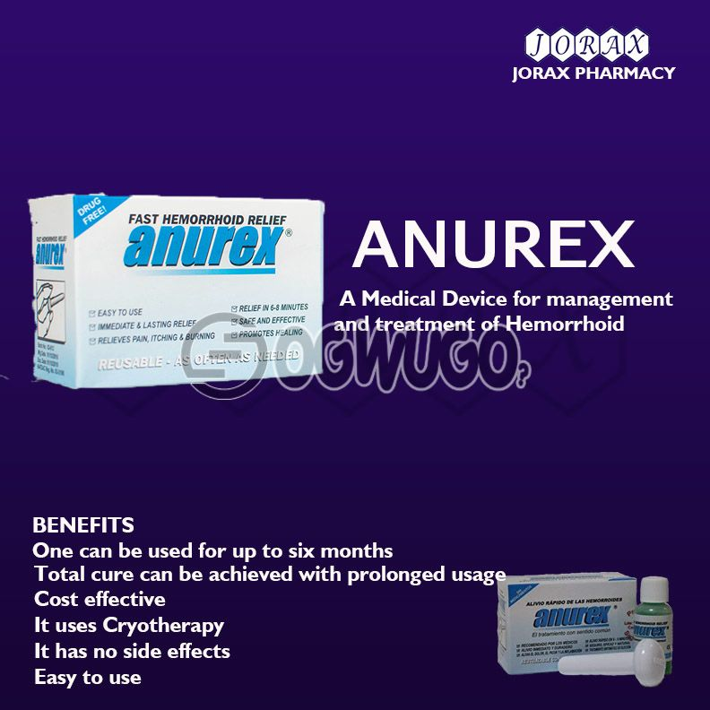 Anurex A Medical Device for the management of Degree 1 - 3 Hemorrhoid/ Pile: unable to load image