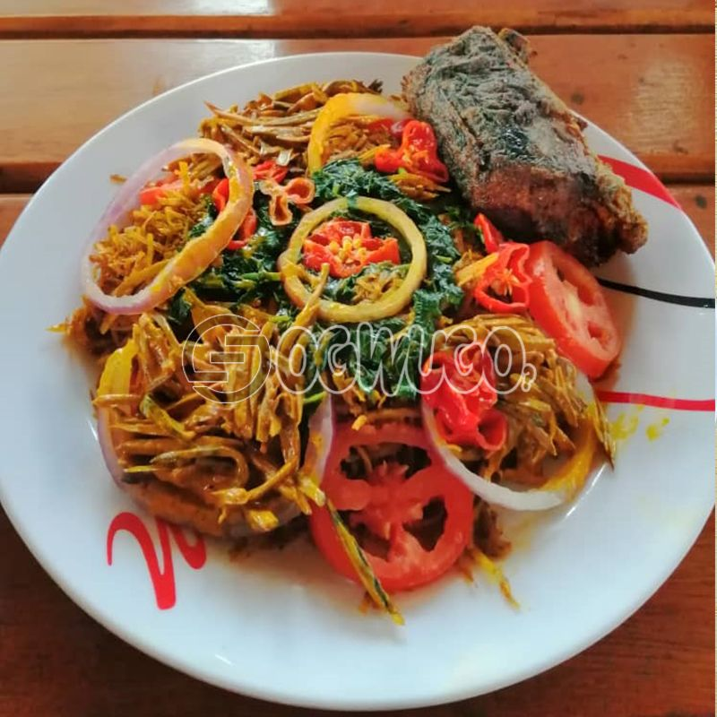 Abacha with very tasty Fish