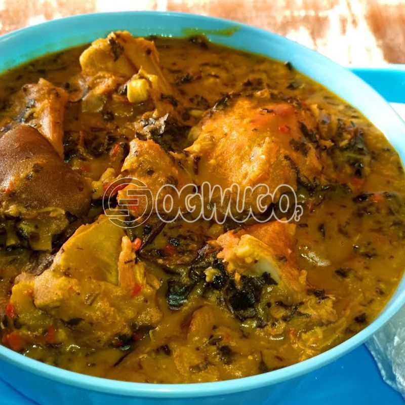 Onugbu Soup... Made with goat meat, beef, cowleg or assorted.
