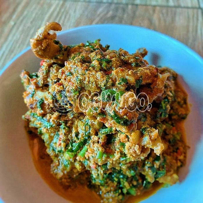 Egusi Soup... Made with goat meat, beef, cowleg or assorted.: unable to load image