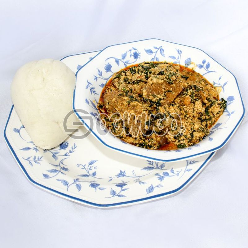 Egusi Soup & Swallow (Semo, Garri, Wheat or Yam) : unable to load image