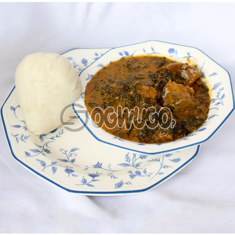 Bitter leaf Soup & Swallow (Semo, Garri, Wheat or Yam): unable to load image