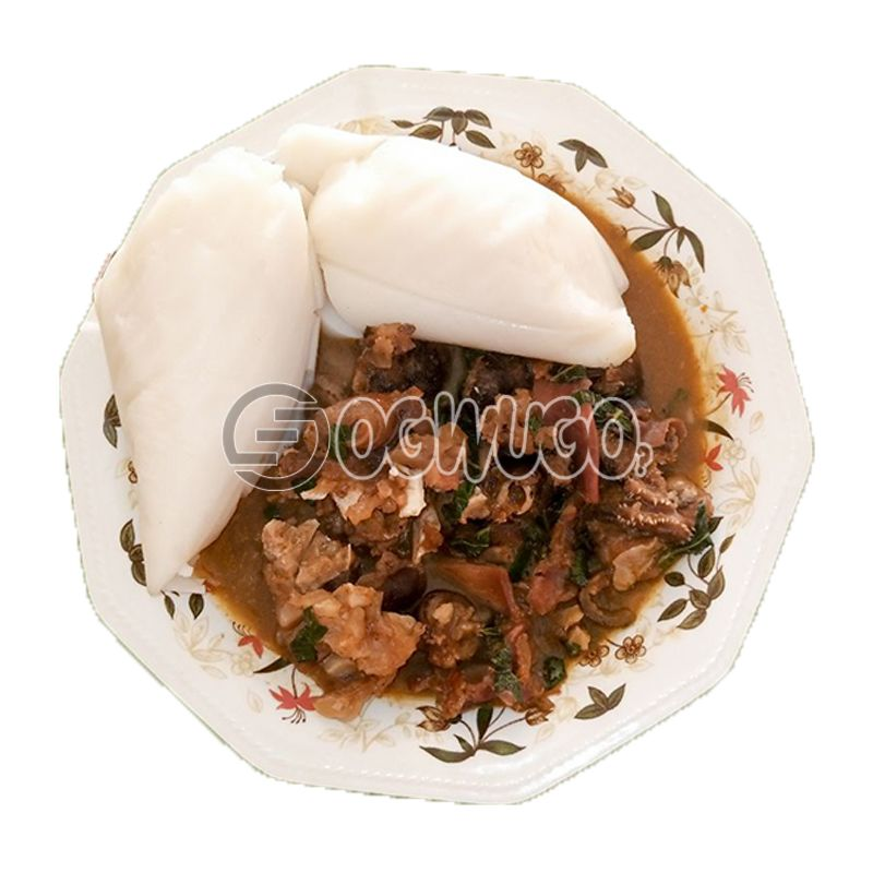 Goat Meat Peppersoup & Agidi : unable to load image