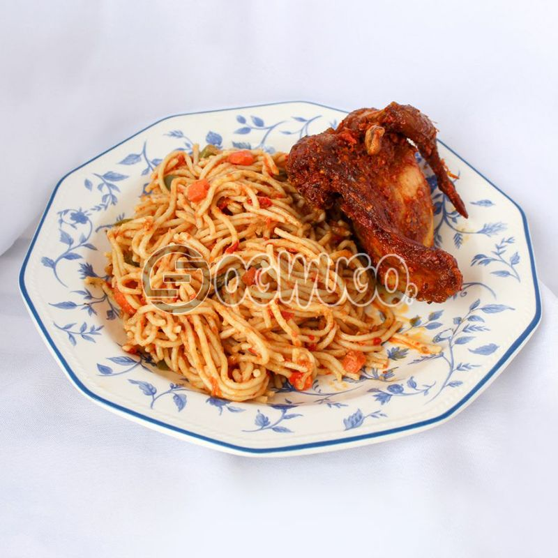 Spaghetti with 1/4 Peppered Chicken: unable to load image