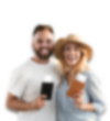 Couple excited to travel