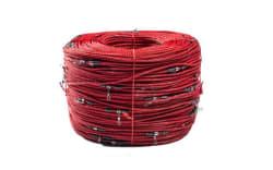 Svivel line 540mtrs, 5,5mm Rød impr. 337 svivler, plaststop