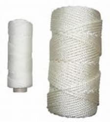 Kryssflettet polyester 2,0 mm hvit 220m