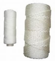 Kryssflettet Polyester 5,0 mm hvit 220 m.