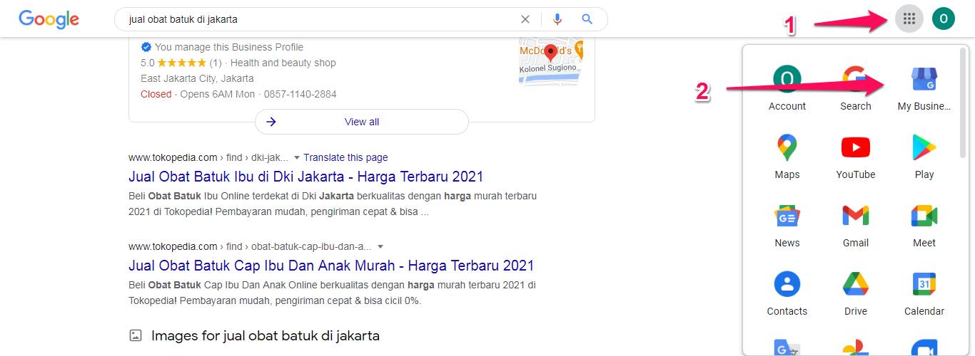 Masuk ke Google My Business
