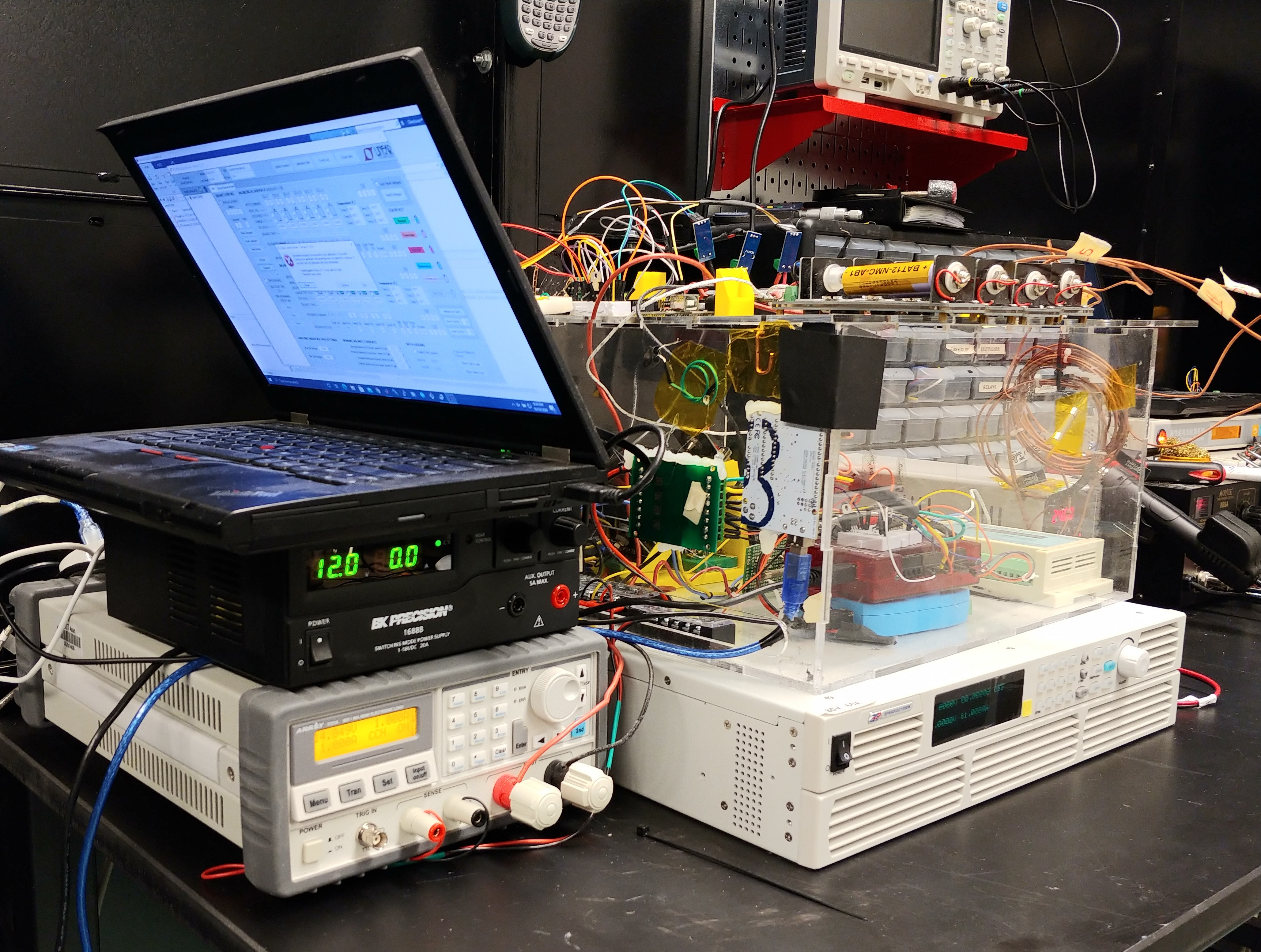 An image of the battery testing workstation box.