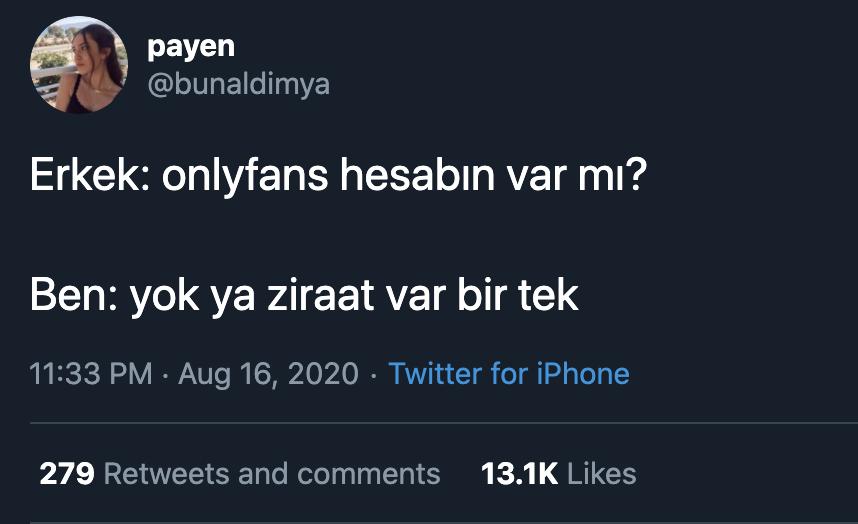 onlyfans hesabı mizah tweet